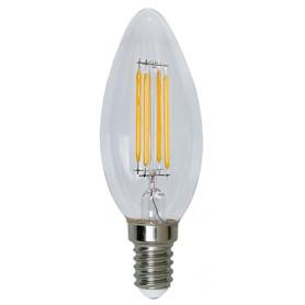 Lampada LED Candela E14 Bianco Caldo 5 W Filamento Classe A++
