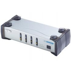 Switch video DVI 4 vie con Audio, VS461