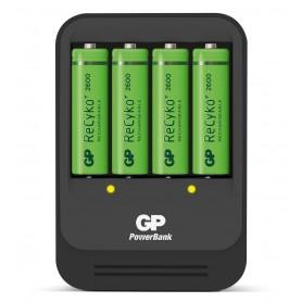 Caricabatterie Intelligente 4 AA/AAA con 4 batterie AA 2600mAh USB nero