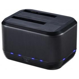 Docking Station USB3.0 Doppio Slot per HDD/SSD SATA da 2.5''/3.5'' Nero