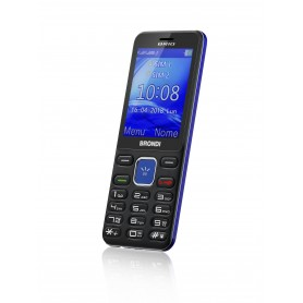 "BRONDI CELLULARE GSM BRIO DUAL SIM LCD 2.4"" BLU/VIOLA"