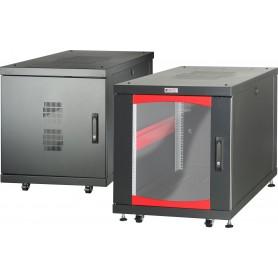 Armadio Server Rack 19'' 600x1000 12 Unità Nero da sotto-scrivania