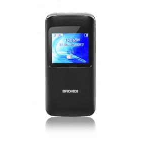 """BRONDI CELLULARE WINDOW DUAL SIM GSM QUAD BAND 1,77"""" A COLORI 1,3MP RADIO FM BLUETOOTH SLOT MICRO SD - COLORE NERO"""