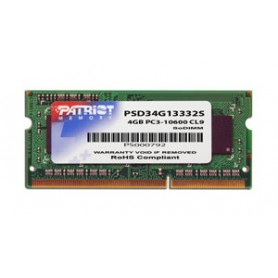 PATRIOT RAM SODIMM 4GB DDR3 1333MHZ