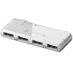Techly Mini Hub USB Hi Speed 4 Porte Bianco (IUSB2-HUB4-WHTY)