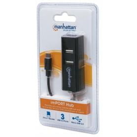 Lettore/Scrittore di Memorie e Hub USB 3 Porte OTG Nero