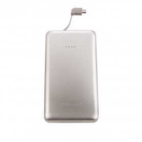 INTENSO POWER BANK 10000MAH USB A + USB A QC DC 5V - 3.1A SILVER