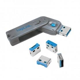 Lucchetto di bloccaggio porta USB con 4 serrature
