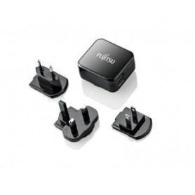 Fujitsu Dual USB Quick Charge Interno Nero caricabatterie per cellulari e PDA