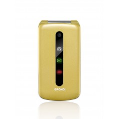 """BRONDI CELLULARE PRESIDENT CLAMSHELL DISPLY 3"""" DUAL SIM GOLD"""