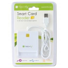 Techly Lettore/Scrittore di Smart Card Usb 2.0 Compatto Bianco I-CARD CAM-USB2TY