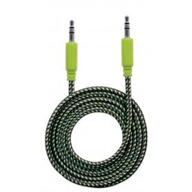 Cavo Audio con Guaina Intrecciata 1m Nero/Verde