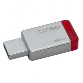 Kingston Technology DataTraveler 50 32GB 32GB USB 3.0 (3.1 Gen 1) Tipo-A Rosso, Argento unità flash USB