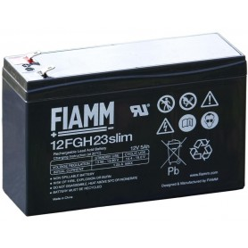 Batteria Piombo-Acido 12V 5,0Ah Slim (Faston 4,8mm)