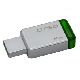 Kingston Technology DataTraveler 50 16GB 16GB USB 3.0 (3.1 Gen 1) Tipo-A Verde, Argento unità flash USB