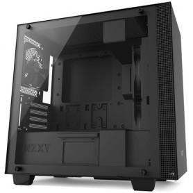 NZXT CASE H400 MICRO-ATX, MINI-ITX, MATTE BLACK, WINDOW, 4 SLOT EXP. 2,5/3,5, 2X USB 3.1, 1XAUDIO/MIC, 2X120 FAN FRONT, 1X120 FA