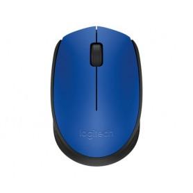 Logitech M171 Wireless + USB Ottico 1000DPI Ambidestro Nero, Blu mouse