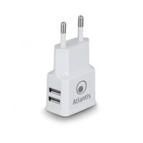ALIMENTATORE DI CORRENTE ATLANTIS P008-ST20-2.4A AC con doppia presa USB Erogazione max fino a 2.4A