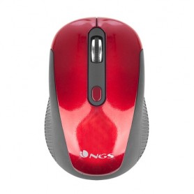 NGS Haze RF Wireless Ottico 1600DPI Ambidestro Nero, Rosso mouse