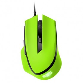 Sharkoon SHARK Force USB Ottico 1600DPI Mano destra Verde mouse