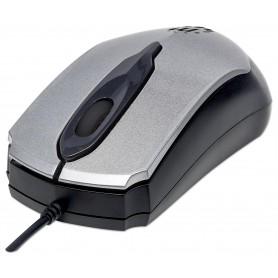 Mouse Ottico USB MO2 1000dpi Grigio