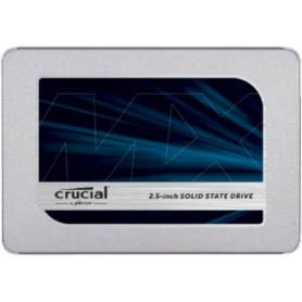 "SSD CRUCIAL CT500MX500SSD1 2.5"" 500GB SATA3 READ: 555MB/S-WRITE: 515MB/S"
