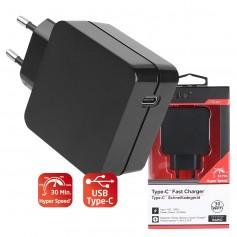 Caricatore USB 3A 30W Rapid Spina Europea 2pin Nero