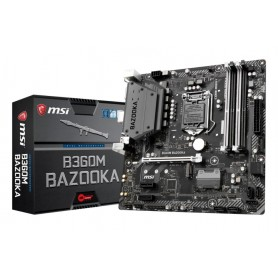 MSI MB B360M BAZOOKA MATX LGA1151 8TH GEN DDR4 PCI-EX1/16 M.2 SATA3 USB3.0 ARSENAL GAMING