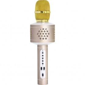 Microfono Karaoke Bluetooth con TWS per Cantare in Duetto Oro, BT-X35