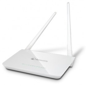 ROUTER ATLANTIS ADSL2+ A02-RA144-W300N+ 300M 802.11n ACCESS POINT SWITCH 4P LAN, 2 ANTENNE da 5dBi