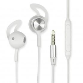 Cuffie Auricolari Audio 3.5'' con Microfono Controllo Volume V415 Bianco