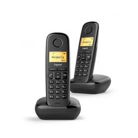 TELEFONO CORDLESS GIGASET A170 DUO L36852H2802K101 Black DECT display alfanum. monoc., ID chiamate, 10 suonerie, rubrica 50 nomi
