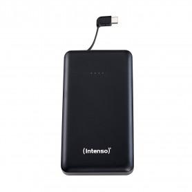 INTENSO POWER BANK 10000MAH USB A + CAVO TIPO C INTERGRATO 5V -2.1A BLACK