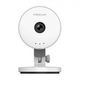 FOSCAM IP CAMERA WIRELESS 1MXP 105 ANGLE USB POWER SUPPLY 2 WAY AUDIO WHITE