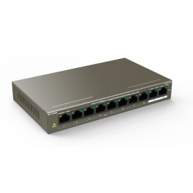 Switch PoE 8 porte 10/100 Mbps + 2 Gigabit, F1110P-8-102W