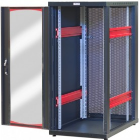 Armadio Server Rack 19'' 600x1000 20 Unita' Nero Grigliato serie IdealNET