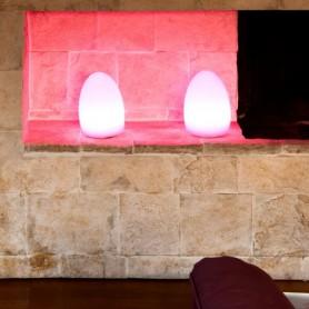 Techly Lampada Led Multicolor da Arredo Uovo
