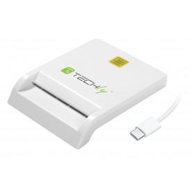 Lettore/Scrittore di Smart Card USB-C Compatto Bianco