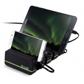Docking Station 4 Porte USB Ricarica Smartphone e Tablet Fourza