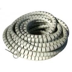 Guaina Raccoglicavi Diametro 25mm a Spirale 20m Grigio