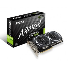 MSI VGA GTX 1070 ARMOR 8GB GDDR5 256BIT 8008MHZ ARMOR 2X PCI-E 3.0 HDMI DP DVI
