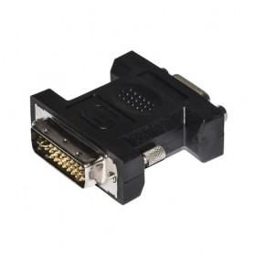 ADATTATORE DVI/VGA LINK da DVI 24+5 pin MASCHIO a VGA 15P FEMMINA