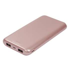 Power Bank 10000mAh Polimeri di Litio 2xUSB Rosa