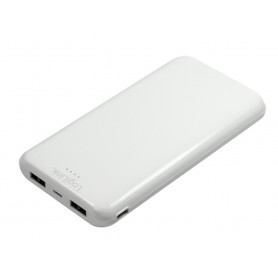 Power Bank 10000mAh Polimeri di Litio 2xUSB Bianco