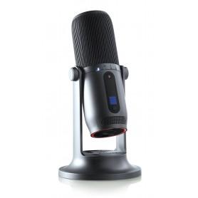 Microfono Professionale a Condensatore 96KHz 24bit 4 Record USB-C Grigio