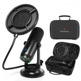 Kit Valigetta Microfono Professionale USB-C Condensatore 48KHz 16bit