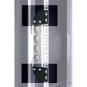 Staffe per montaggio verticale su montanti rack nero