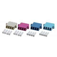 Adattatore Quadrupolo LC/PC Monomodale plastica