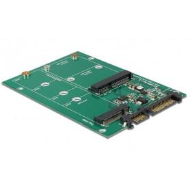 Scheda Convertitore da SATA 22 pin a 1 M.2 NGFF + 1 mSATA