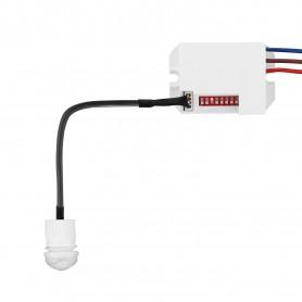 Mini Sensore di Movimento LED Infrarossi da Incasso DIP Switch